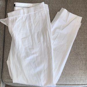 BANANA REPUBLIC — white Sloan pants